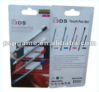 best selling touch Pen Retractable Stylus pen Set For 3DS game console