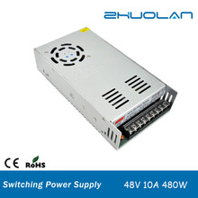 alibaba.com shenzhen ac to dc 48v 10amp 480w SMPS switch power supply for led strip light