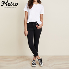 factory manufacturers crop high rise women skinny jeans trousers
