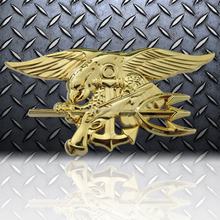 Navy seal coin engraved fashion navy seal challenge coin