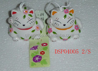 Japanese style white cat wind bell/ chimes