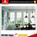 PVC double hung window with grill us style for house,single hung window