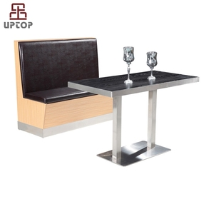 (SP-CT649) Wholesale cafeteria fast food restaurant booth cafe seating furniture