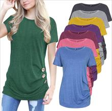 Walson Fashion Womens T Shirt Short Sleeve Cotton Tops Shirt Lady Blouse