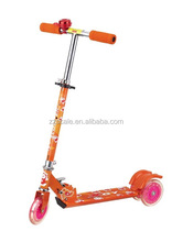 cheap 3 PVC Wheels kick scooter, foldable scooter ,kids foot scooter