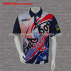 Good quality men's custom motocross jersey mesh fabric racing jersey