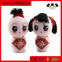 2014 new design lucky wedding wooden Chinese doll