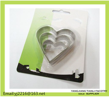 Heart shape funny shape clay tools stainless steel cake decorating pasta cutter