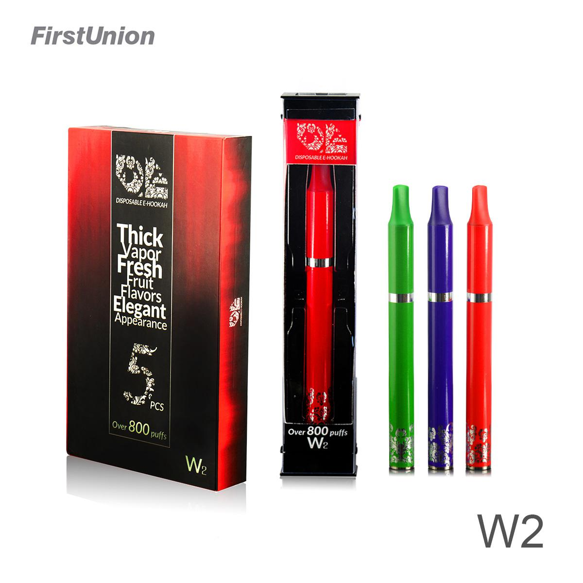 New invention luxury e cigarette W2 rich fruit flavors e cigarette mouthpiece 800 puffs wholesale e cigarette