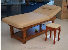 latest wooden spa salon oil sex bed thai massage bed