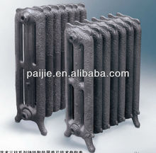 Pioneer: carved art cast iron heating radiator/3 poles antique cast iron radiator for hot water heating