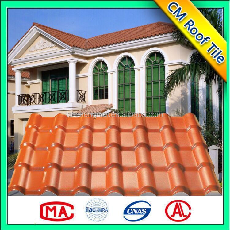 Corrugated ASA Synthetic Resin Colored Plastic Roof Sheet
