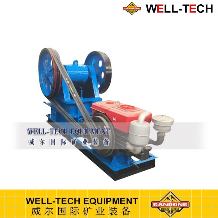 mini portable diesel engine jaw crusher