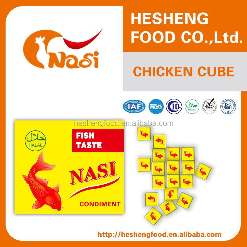 Nasi chicken broth fish bouillon cube for sale