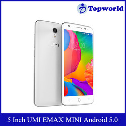 Hot Selling 5 inch 1920*1080p Qualcomm Snapdragon 615 MSM8939 Octa Core 2GB 16GB 4G LTE UMI eMAX Mini Mobile Phone