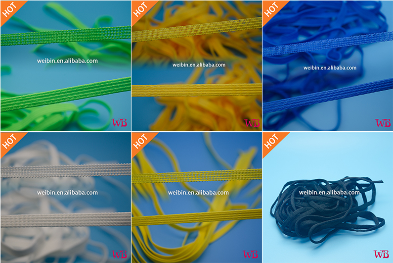 [Factory] Braided Elastic Band, Elastic Braid Manufacturer, 2-50mm, colourful