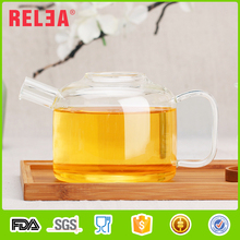RELEA nice looking teapot 750ml,cup 88ml Home decorative glass tea kettles