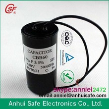 capacitor original factory state-owned enterprises quality cbb60 ac 450v 16uf wired motor run feed through capacitor