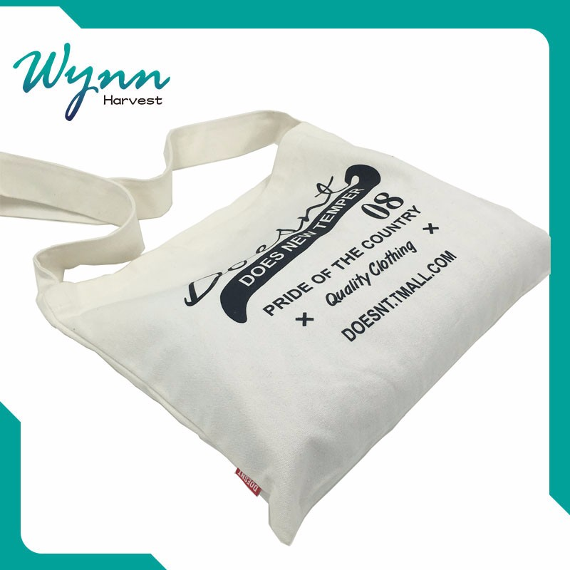 Refined and cultured promotional tote cotton bag with cord No pilling