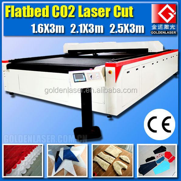 autofeed flatbed laser to cut fleece and non woven fabrics