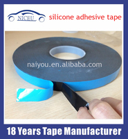 Blue Paper Black Foam 1mm thick silicone Double-Sided Adhesive Foam Tape