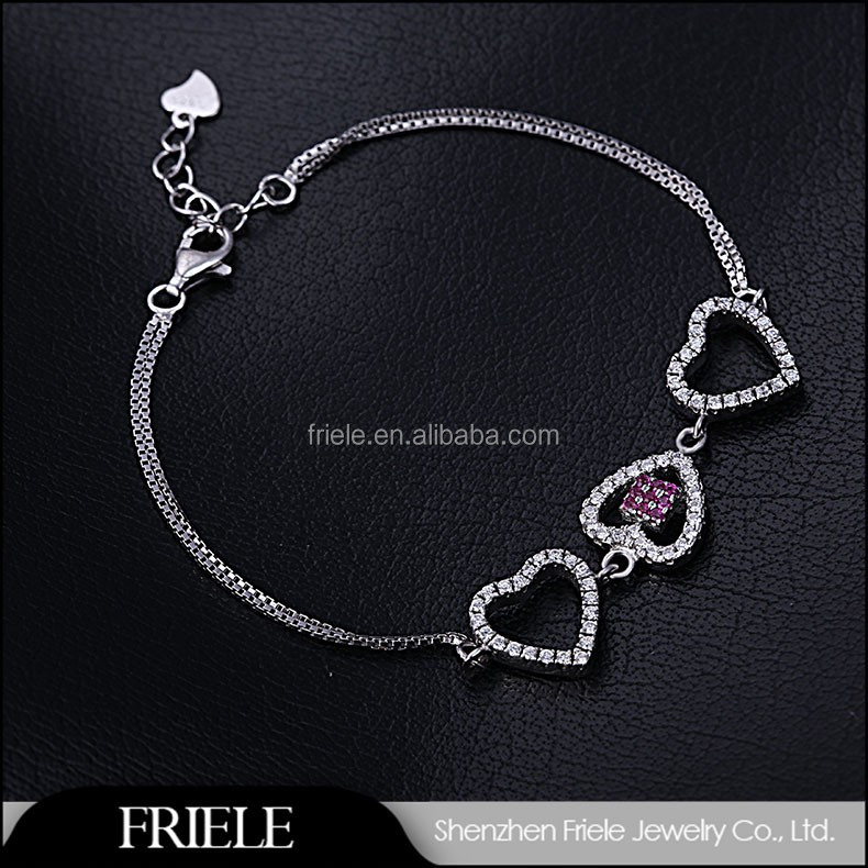 China Factory Online Shopping Magnetic 925 Silver cheap Bracelet For Love