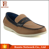 Alibaba Casual Men Shoes Fashion genuine Leather Men Loafers Slip On Man Flats Driving Shoes very popular in Asia