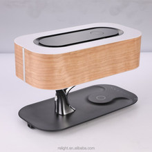 light of the tree Wireless charging cordless led table lamp with bluetooth speaker