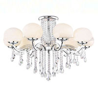 Modern White Glass Chandelier Lightings ETL84193