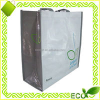 wholesale customized recyclable eco-friendly promotional pink lamination pp woven reusable grocery tote bag