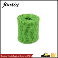 Junxia 2 M Jute Roll Natural Pure Color Burlap Ribbon DIY Hessian Ribbon for Christmas Decoration Gift Wrapping