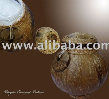 Extra Virgin Coconut Lotion in Coconut Shell Package Excellent SPA Item