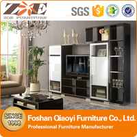 MODERN TV WALL UNIT/SIMPLE DESIGN LCD TV UNIT FURNITURE/HIGH GLOSSY MDF TV WALL UNIT DESIGN