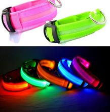 Nylon Pet Dog Collar LED Light Night Safety Light-up Flash Glowing in Dark Cat Collar