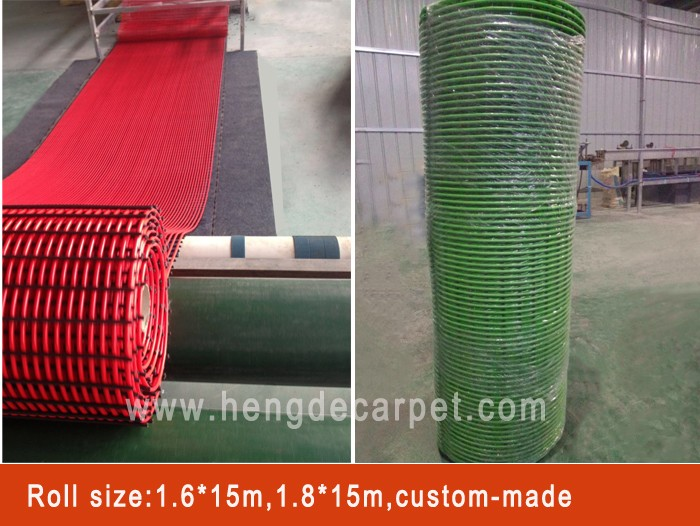 machine made cheap water absorb pvc mat roll with plastic suface for shop