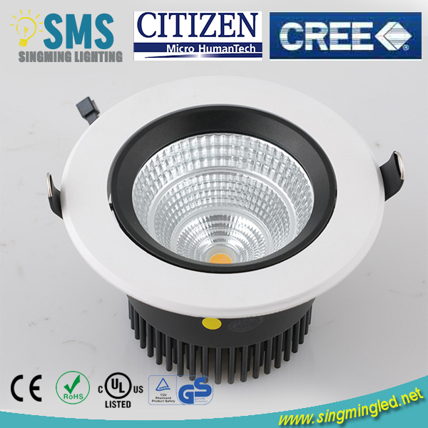 Morden design CITIZEN / EPISTAR high power led downlight with 90mm cut out