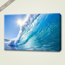 Chinese Landscape Wallpaper Sea Wave Giclee Canvas Prints For Wall Stickers Home Decor