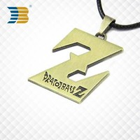 Z shaped custom metal letter charms