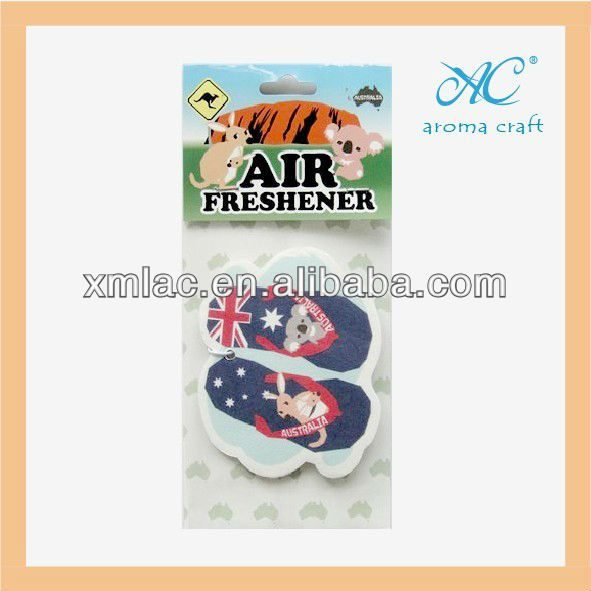 whole sale cheap custom paper shoe air freshener for car