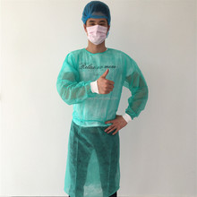Disposable green isolation gown