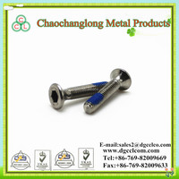 High Quality Hex hexagon bugle head bule nylock bolt