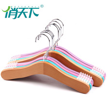 Children Use Cheap Solid Wood Clothing wooden cloth hanger