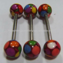 New design print tongue barbell body piercing jewelry