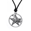 Raven Pentacle Pendant Wiccan Necklace