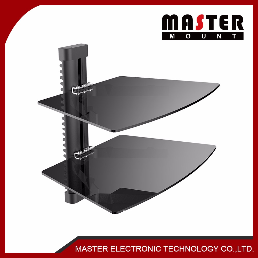 Tempered Glass DVD Shelf Wall Mount Bracket