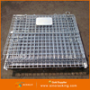 ACEALLY Logistic Container Packaging Boxes Stacking Storage Box Folding Steel Storage Cage
