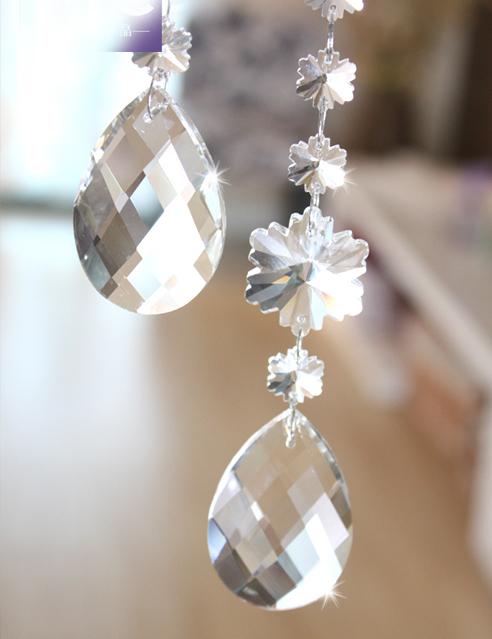 100Pcs Lot 38mm Glass Crystal Pendant Teardrop Wedding Christmas Home Decoration Chandelier Parts Free Ship