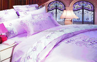 Hot sale imitation silk disperse printed polyester bedsheet fabric