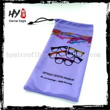 High Quality large cotton pouchs china supplier /heat transfer printing microfiber glass/sunglass/eyeglass bag with drawstring