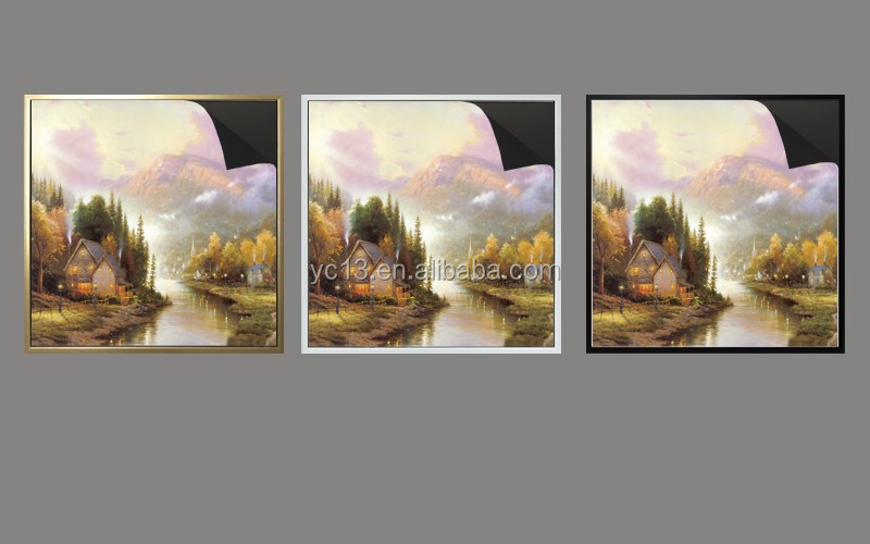 wooden magnetic frame & print magnetic paintings Thomas kinkaides 1013-176